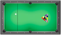 Table du billard américain